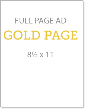 Full Page Ad - Gold Page