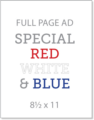 Full Page Ad - Special Red White & Blue